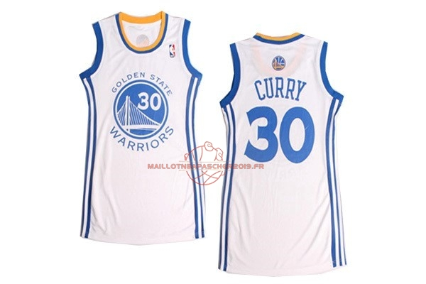 Achat Maillot NBA Femme Golden State Warriors NO.30 Stephen Curry Blanc pas cher