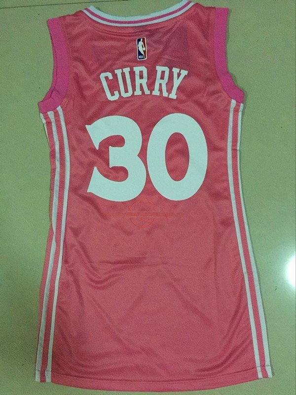 Achat Maillot NBA Femme Golden State Warriors NO.30 Stephen Curry Rose pas cher