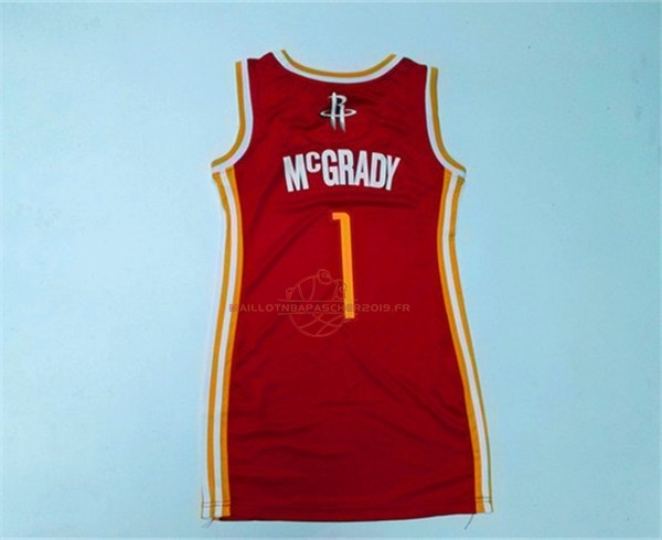 Achat Maillot NBA Femme Houston Rockets NO.1 Tracy McGrady Rouge pas cher