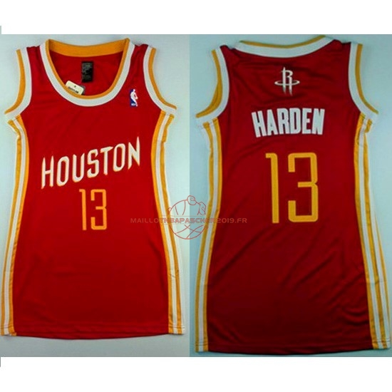 Achat Maillot NBA Femme Houston Rockets NO.13 James Harden Retro Rouge pas cher