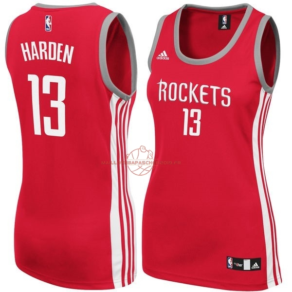 Achat Maillot NBA Femme Houston Rockets NO.13 James Harden Rouge pas cher