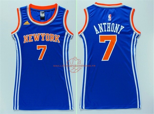 Achat Maillot NBA Femme New York Knicks NO.7 Carmelo Anthony Bleu pas cher