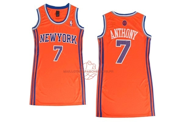 Achat Maillot NBA Femme New York Knicks NO.7 Carmelo Anthony Orange pas cher