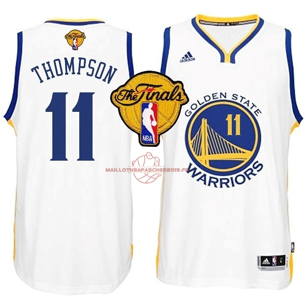 Achat Maillot NBA Golden State Warriors Finales NO.11 Thompson Blanc pas cher