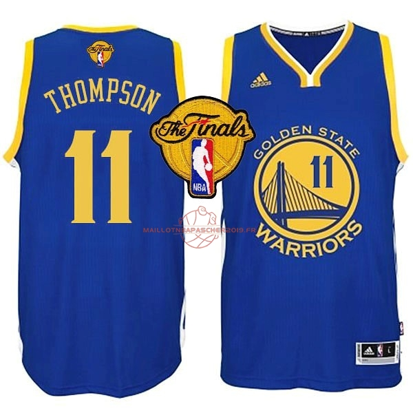 Achat Maillot NBA Golden State Warriors Finales NO.11 Thompson Bleu pas cher