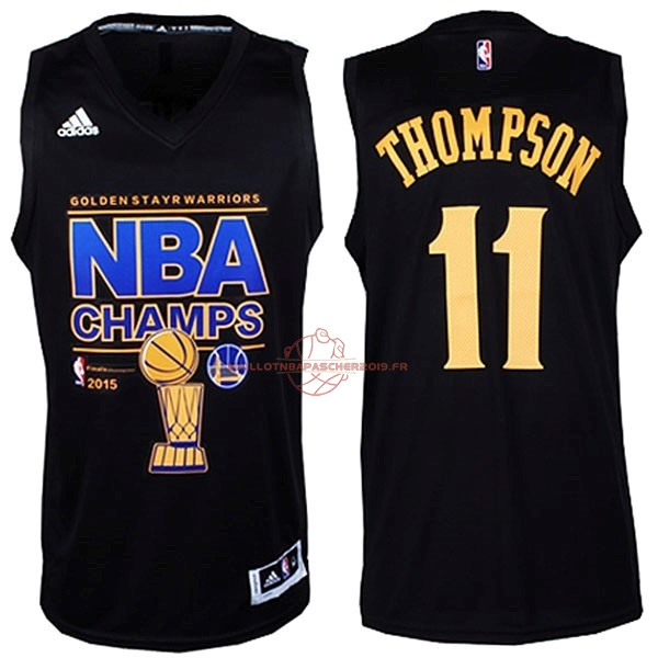 Achat Maillot NBA Golden State Warriors Finales NO.11 Thompson Noir pas cher