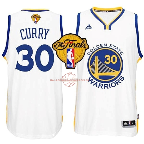 Achat Maillot NBA Golden State Warriors Finales NO.30 Curry Blanc pas cher