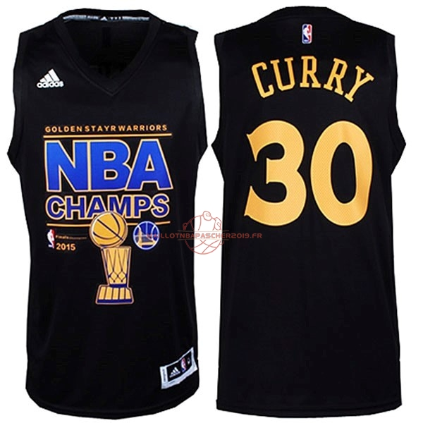 Achat Maillot NBA Golden State Warriors Finales NO.30 Curry Noir pas cher