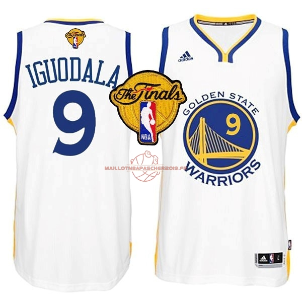 Achat Maillot NBA Golden State Warriors Finales NO.9 Iguodala Blanc pas cher