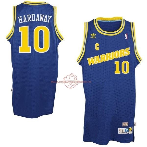 Achat Maillot NBA Golden State Warriors NO.10 Anfernee Hardaway Retro Bleu pas cher