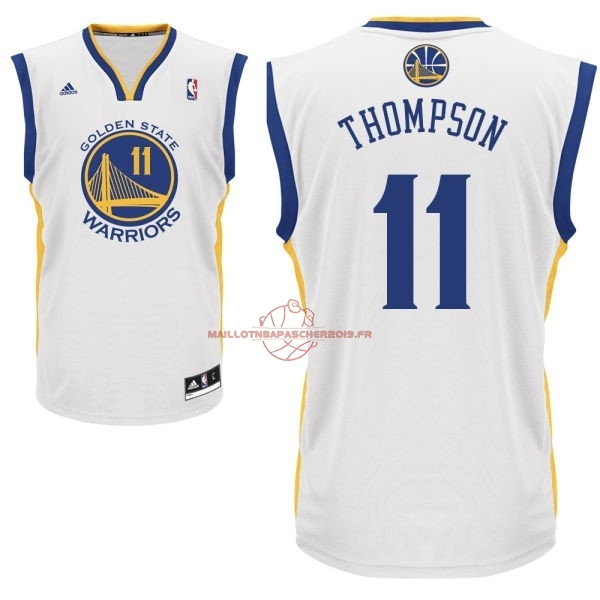 Achat Maillot NBA Golden State Warriors NO.11 Klay Thompson Blanc pas cher
