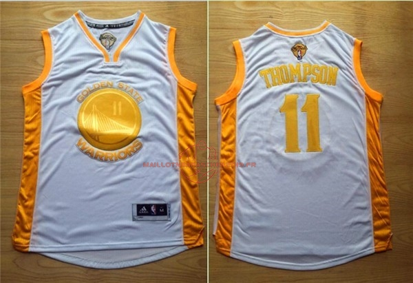 Achat Maillot NBA Golden State Warriors NO.11 Klay Thompson Or pas cher