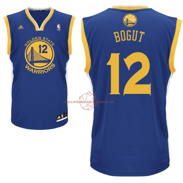 Achat Maillot NBA Golden State Warriors NO.12 Andrew Bogut Bleu pas cher