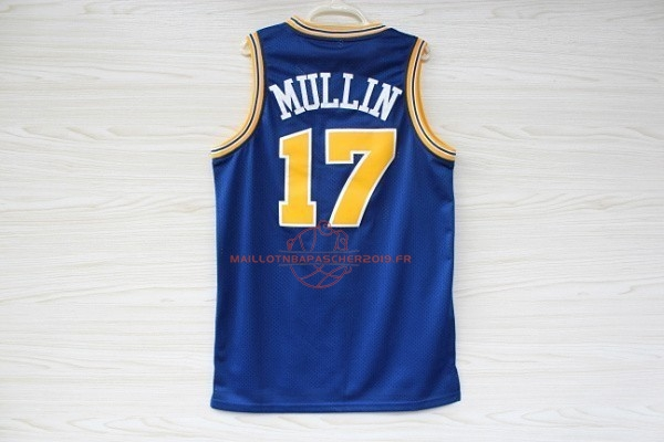 Achat Maillot NBA Golden State Warriors NO.17 Chris Mullin Bleu pas cher