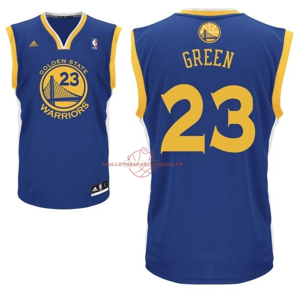 Achat Maillot NBA Golden State Warriors NO.23 Draymond Green Bleu pas cher