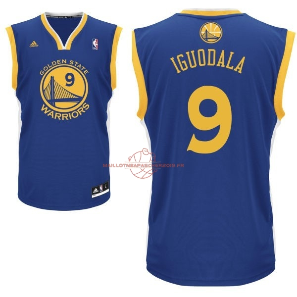Achat Maillot NBA Golden State Warriors NO.9 Andre Iguodala Bleu pas cher