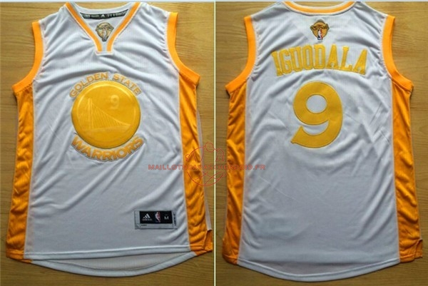 Achat Maillot NBA Golden State Warriors NO.9 Andre Iguodala Or pas cher