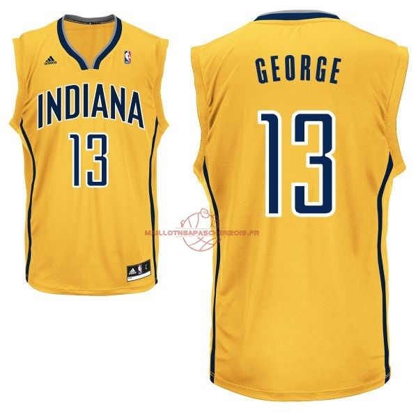 Achat Maillot NBA Indiana Pacers NO.13 Paul George Jaune pas cher