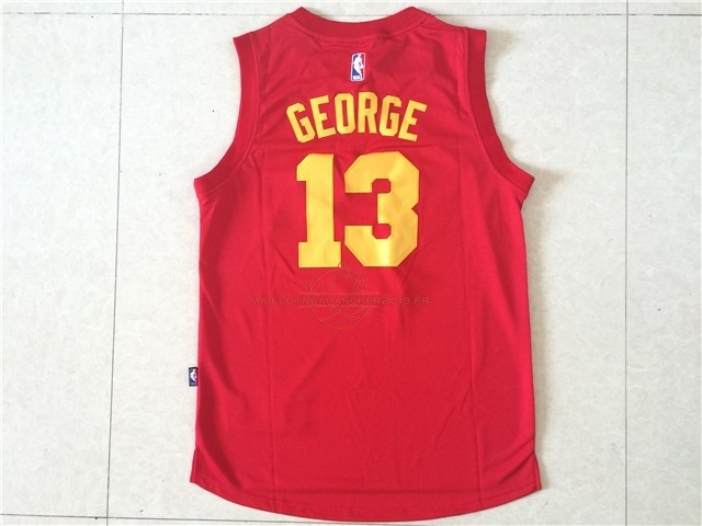 Achat Maillot NBA Indiana Pacers NO.13 Paul George Rouge pas cher