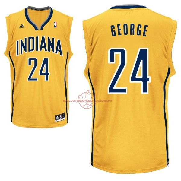 Achat Maillot NBA Indiana Pacers NO.24 Paul George Jaune pas cher