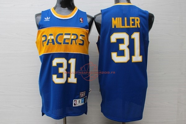 Achat Maillot NBA Indiana Pacers NO.31 Reggie Miller Bleu pas cher