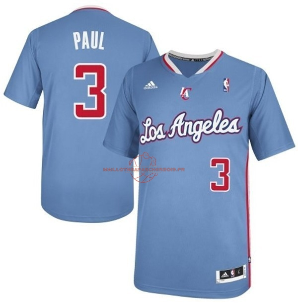 Achat Maillot NBA Los Angeles Clippers Manche Courte NO.3 Chris Paul Bleu pas cher