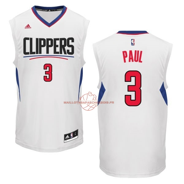 Achat Maillot NBA Los Angeles Clippers NO.3 Chris Paul Blanc pas cher