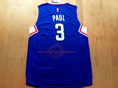 Achat Maillot NBA Los Angeles Clippers NO.3 Chris Paul Bleu pas cher