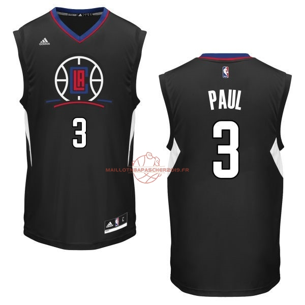 Achat Maillot NBA Los Angeles Clippers NO.3 Chris Paul Noir pas cher