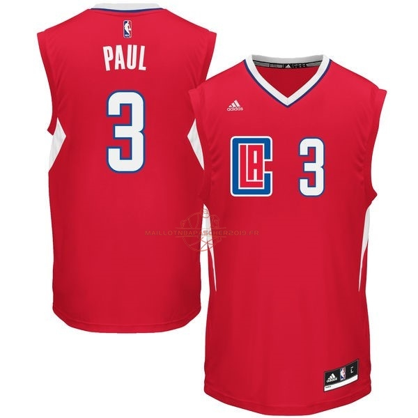 Achat Maillot NBA Los Angeles Clippers NO.3 Chris Paul Rouge pas cher