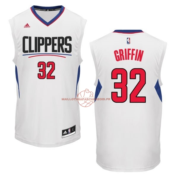 Achat Maillot NBA Los Angeles Clippers NO.32 Blake Griffin Blanc pas cher