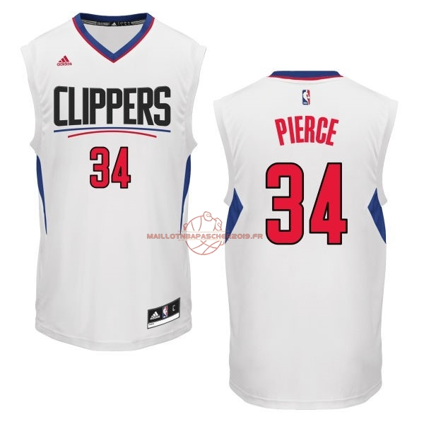 Achat Maillot NBA Los Angeles Clippers NO.34 Paul Pierce Blanc pas cher