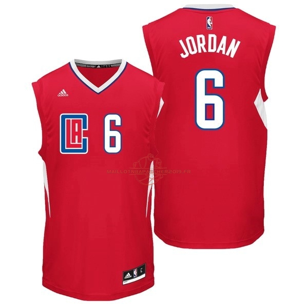 Achat Maillot NBA Los Angeles Clippers NO.6 DeAndre Jordan Rouge pas cher