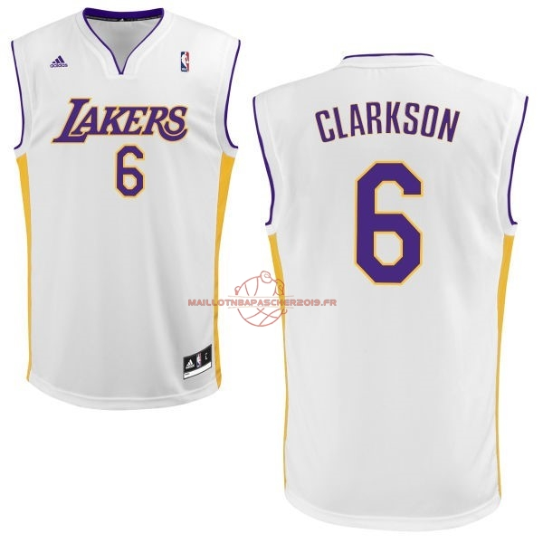 Achat Maillot NBA Los Angeles Lakers NO.6 Jordan Clarkson Blanc pas cher