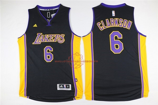 Achat Maillot NBA Los Angeles Lakers NO.6 Jordan Clarkson Noir pas cher
