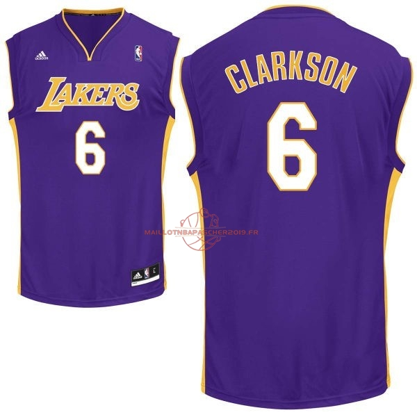 Achat Maillot NBA Los Angeles Lakers NO.6 Jordan Clarkson Pourpre pas cher