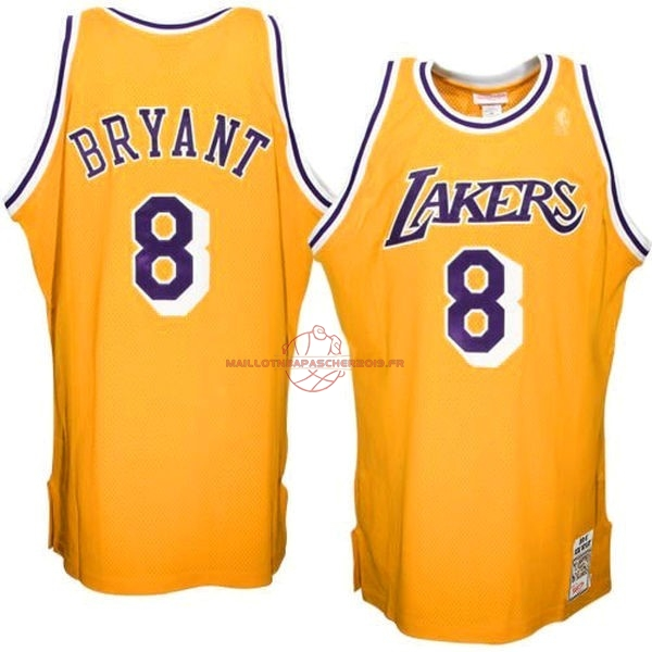 Achat Maillot NBA Los Angeles Lakers NO.8 Kobe Bryant Jaune pas cher