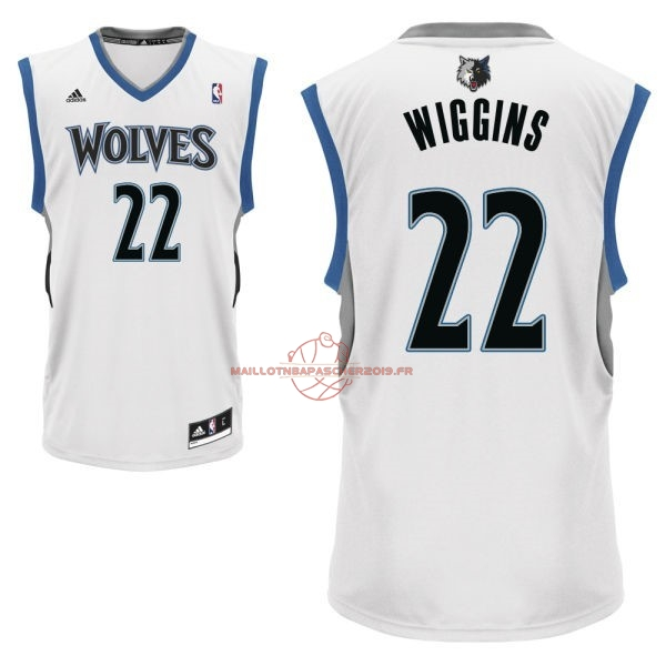 Achat Maillot NBA Minnesota Timberwolves NO.22 Andrew Wiggins Blanc pas cher