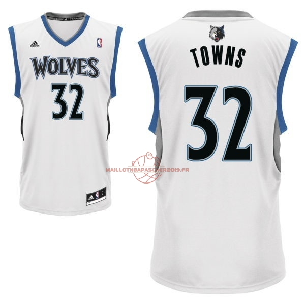 Achat Maillot NBA Minnesota Timberwolves NO.32 Karl Anthony Towns Blanc pas cher