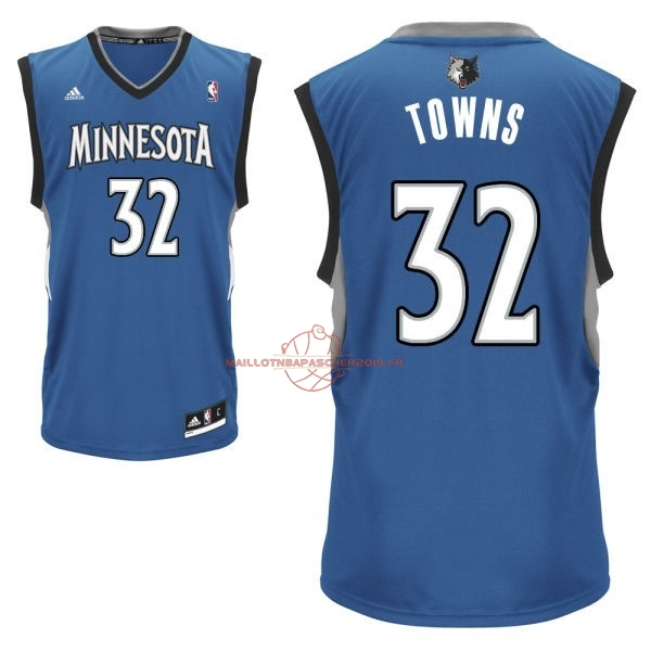 Achat Maillot NBA Minnesota Timberwolves NO.32 Karl Anthony Towns Bleu pas cher