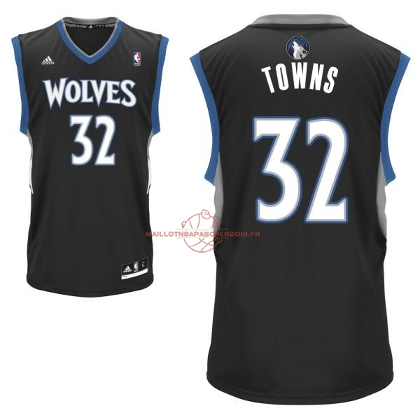 Achat Maillot NBA Minnesota Timberwolves NO.32 Karl Anthony Towns Noir pas cher