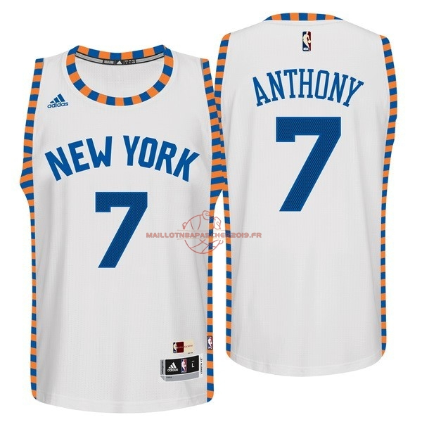 Achat Maillot NBA New York Knicks NO.7 Carmelo Anthony Blanc Encaje pas cher