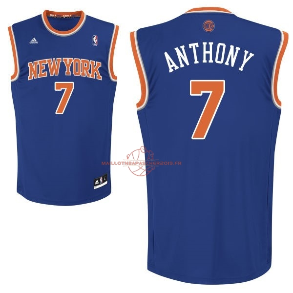Achat Maillot NBA New York Knicks NO.7 Carmelo Anthony Bleu pas cher
