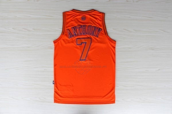 Achat Maillot NBA New York Knicks NO.7 Carmelo Anthony Orange pas cher