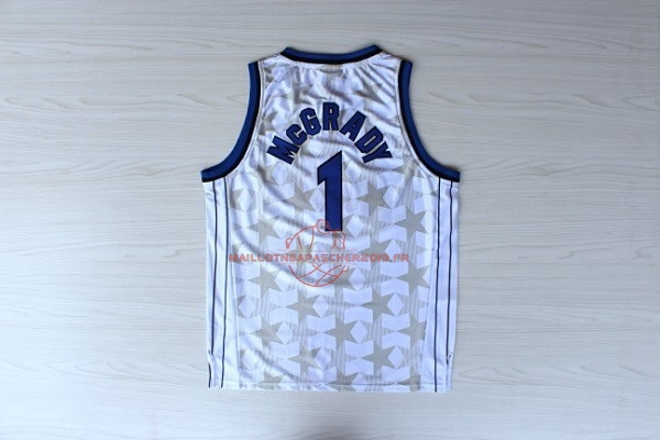 Achat Maillot NBA Orlando Magic NO.1 Tracy McGrady Blanc Sombre pas cher