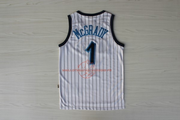 Achat Maillot NBA Orlando Magic NO.1 Tracy McGrady Blanc pas cher