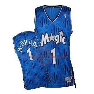 Achat Maillot NBA Orlando Magic NO.1 Tracy McGrady Bleu Sombre pas cher
