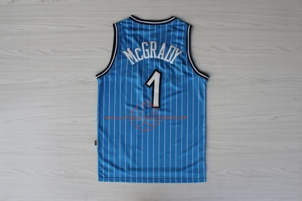 Achat Maillot NBA Orlando Magic NO.1 Tracy McGrady Bleu pas cher