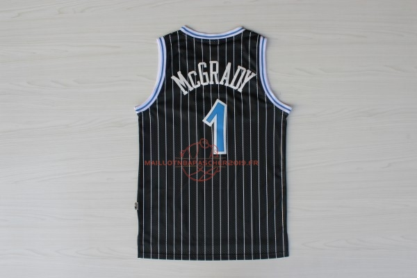 Achat Maillot NBA Orlando Magic NO.1 Tracy McGrady Noir pas cher