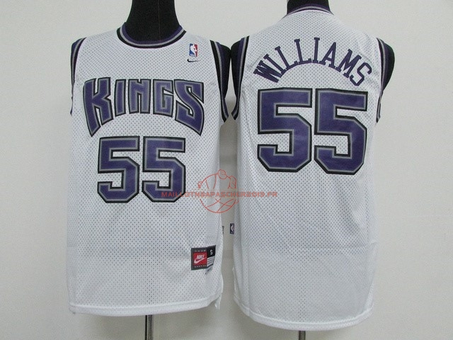 Achat Maillot NBA Sacramento Kings NO.55 Jason Williams Blanc pas cher